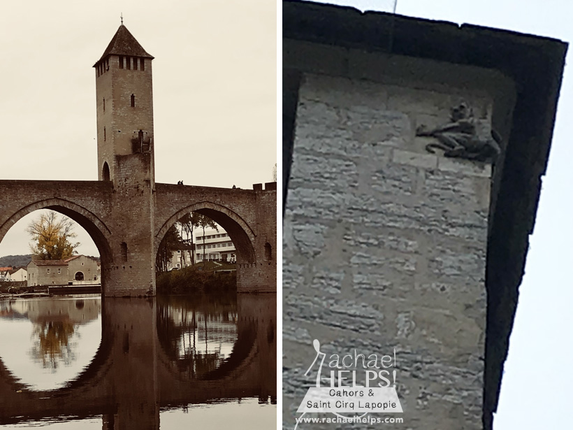 the devil on Valentré bridge Cahors France